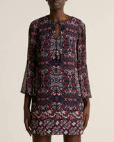 Vince Camuto Navy Floral Printed Shift Dress