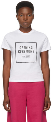 Opening Ceremony White Box Logo T-Shirt