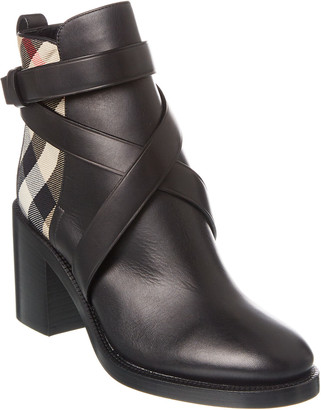 Burberry Vintage Check Leather Bootie
