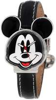 Disney Women's MCK001B Mickey Mouse Leather Strap Watch