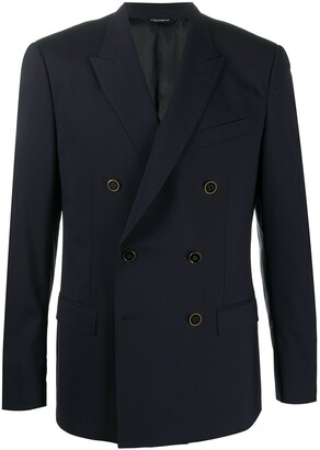 Dolce & Gabbana metallic button double-breasted suit jacket