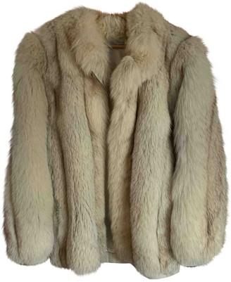 Colmar Beige Fox Coat for Women