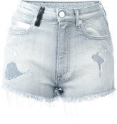 Marcelo Burlon County of Milan distressed denim shorts