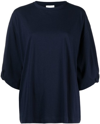 Allude wide-sleeve cotton T-shirt