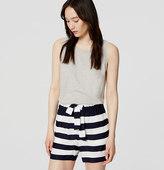 """LOFT Stripe Fluid Tie Waist Shorts with 5"""" Inseam"""