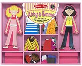Melissa & Doug Magnetic Dress-Up Dolls - Abby & Emma