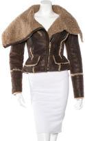 Burberry Shearling Moto Jacket
