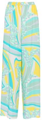 Emilio Pucci Beach Printed high-rise wide-leg pants