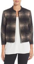 Classiques Entier Genuine Leather Trim Crop Tweed Jacket