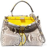 Fendi Peekaboo Mini Python Shoulder Bag - Yellow