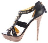 Emilio Pucci Embellished Caged Sandals