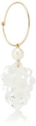 Sophie Bille Brahe Grappolo 14kt gold and pearl single earring