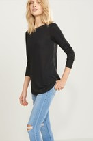 Dynamite Satin And Knit Tie Back Tunic