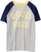 Crazy 8 Heather Gray 'Good Vibes' Raglan Tee - Toddler & Boys