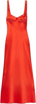 Dion Lee Silk-satin Midi Dress