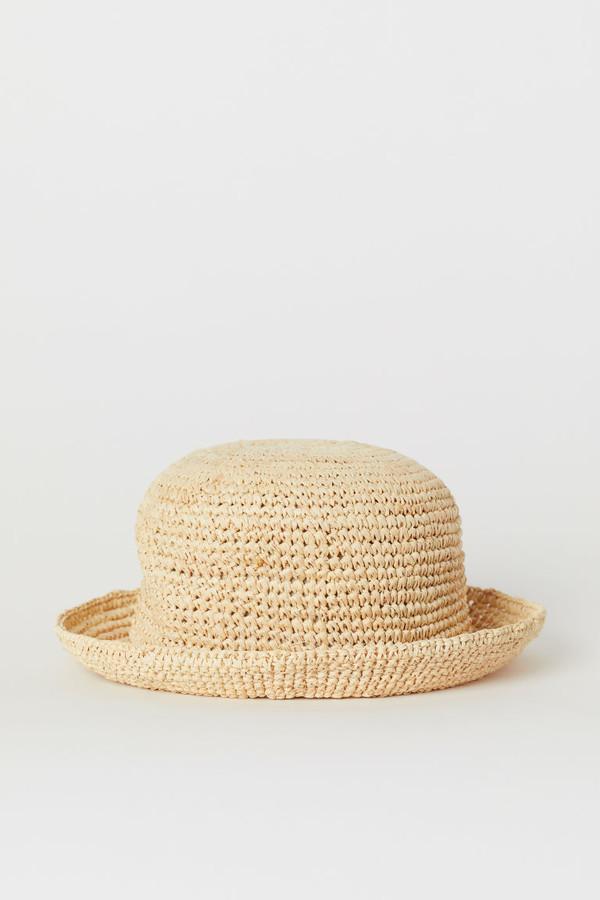 H&M Round Straw Hat - Beige