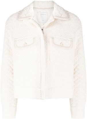 Sandro Paris Fitted Quilted Jacket