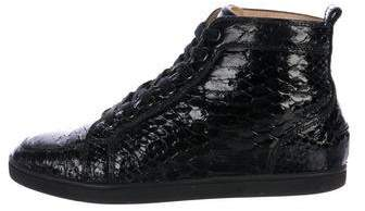 Christian Louboutin Rantinos Flat Python Sneakers