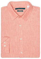 Perry Ellis Big and Tall Linen Roll Sleeve Shirt
