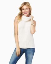 Charming charlie Pieced Knit Sleeveless Cowl Sweater