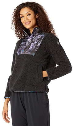 Spyder Boulder Anorak Fleece Jacket (Black) Women's Coat