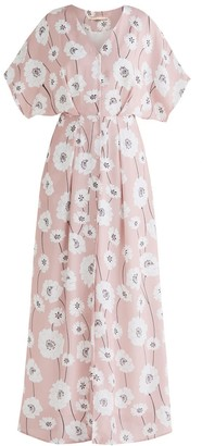 Paisie Athens Maxi Floral Dress In Pink Floral Print