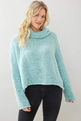 Free People Bff Sweater Aqua L