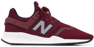 New Balance Lace-Up Mesh Sneakers