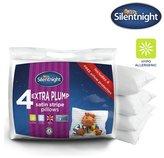 Silentnight Extra Plump Satin Stripe Pillows - 4 Pack