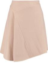 Pringle Asymmetric Silk-Trimmed Cashmere-Felt Skirt