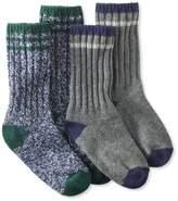 """L.L. Bean Merino Wool Ragg Sock, 10"""" Stripe 2-Pack"""