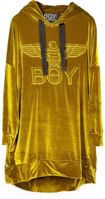 Boy London Gold Eagle Chenille Hooded Long Dress