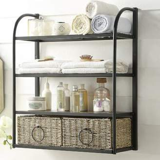 Laurèl Foundry Modern Farmhouse Kiowa Hanging Storage Rack with Basket Foundry Modern Farmhouse