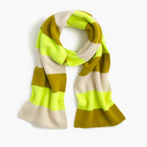J.Crew Striped cashmere scarf