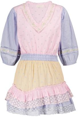 LoveShackFancy Adley polka-dot cotton minidress