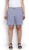 "Classic Women's Plus Size Mid Rise 7"" Chino Shorts-Bright Tomato"