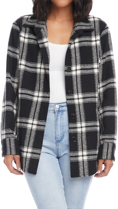 Karen Kane Plaid Shirt Jacket