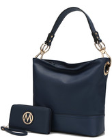 Mkf Collection By Mia K. MKF Collection by Mia K. Women's Hobos - Navy Magnolia Hobo & Wallet
