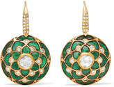 Amrapali 18-karat Gold Multi-stone Earrings - Green