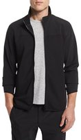 Theory Zip-Front Long-Sleeve Track Jacket, Black