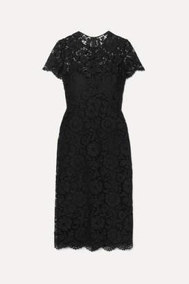 Valentino Corded Lace Midi Dress - Black