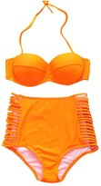 Surker Women's Ladies Vintage High Waisted Bikini Set Swimsuits Swimwear