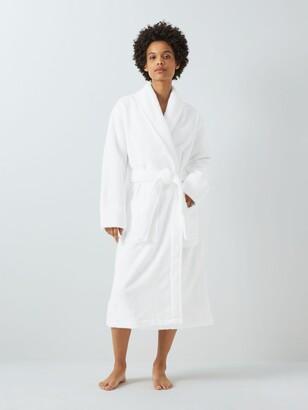 John Lewis & Partners Luxury Towelling Robe, White
