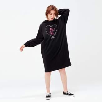 Uniqlo WOMEN MICKEY ART Hooded Sweat Long Sleeve Dress