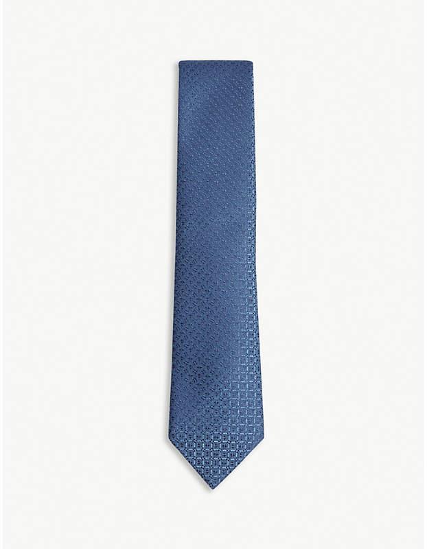 Charvet Diamond check print silk tie
