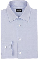 Ermenegildo Zegna Men's Textured Cotton Shirt-BLUE, WHITE