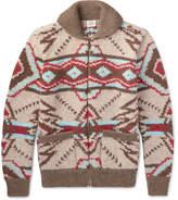 Faherty Huron Shawl-Collar Wool And Alpaca-Blend Zip-Up Cardigan