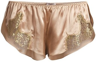 Gilda and Pearl Gina Silk Lace-Trim Shorts