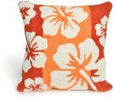 "Liora Manne Frontporch Hibiscus Pillow - Blue/18"" x 18"""
