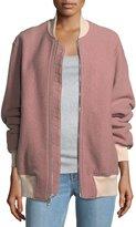 Rag & Bone Elle Zip-Front Virgin Wool Bomber Jacket